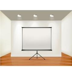 empty presentation screen vector image