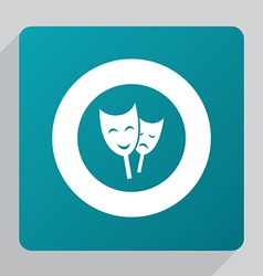 flat theater icon vector image