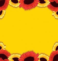 Gerberas background vector