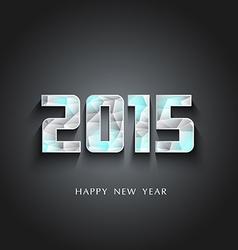 glaciers 2015 Happy New Year vector image vector image