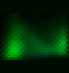 Glowing neon green rows of triangles background vector
