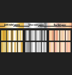 gold silver and rose gold gradient vector image vector image