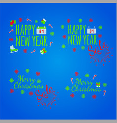 Happy new year banner and giftcard x vector