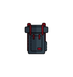 Hunting icon rucksack vector