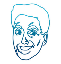 Man face pop art cartoon vector