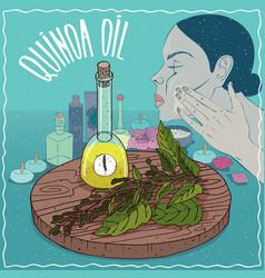 Quinoa oil used for skin care vector
