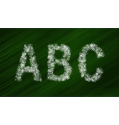 Set of bokeh alphabet and symbols vector