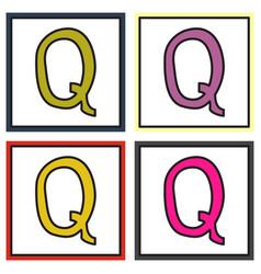 Set of logo quora website icon social media vector