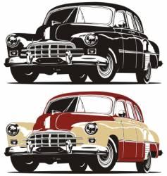 Vintage limousine vector