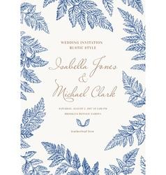 Vintage wedding invitation in a rustic style vector image vector image