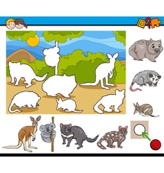 cartoon task for children vector image
