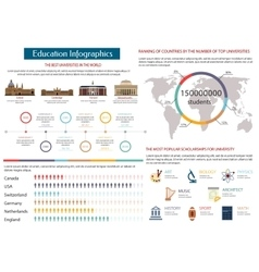 Education infographics of the best universities vector