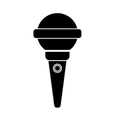 Isolated microphone of music concept vector