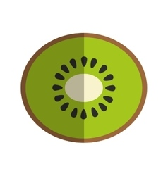 Kiwi fruit icon vector