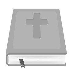 Book with a cross on the cover the bible easter vector