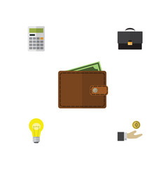 Flat gain set of calculate portfolio billfold vector