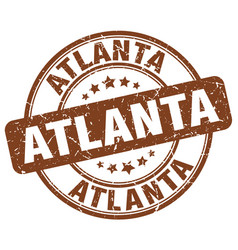Atlanta brown grunge round vintage rubber stamp vector