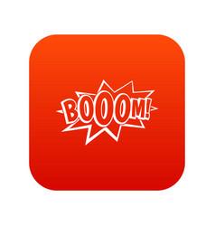 boom explosion bubble icon digital red vector image