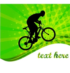 Bicyclist -abstract background vector