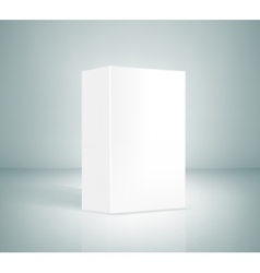 Blank white box vector