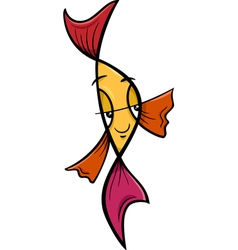 Veiltail fish cartoon vector