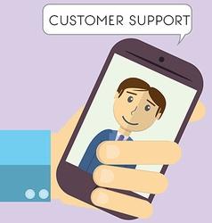 Flat design modern of customer support manager vector image