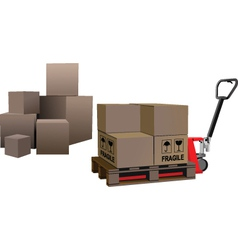 storage boxes vector image
