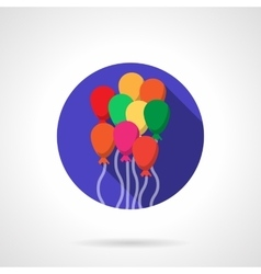 Bright colorful balloons round flat icon vector