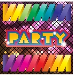 Colorful mosaic background for party vector