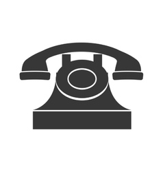 Phone icon retro technology design vector