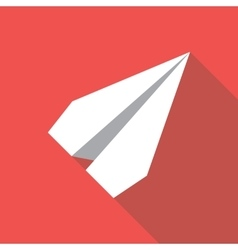 Paper plane flat icon paper origami airplane vector