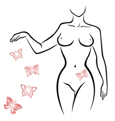 Abstract sexy woman body vector image vector image