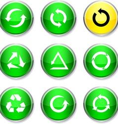Arrows round icons vector