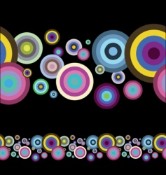 artistic circles vector image vector image