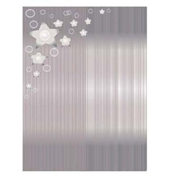 Background Silver Shadow with stripes and flowers vector image
