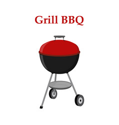 barbecue set - grill station closed cap vector image