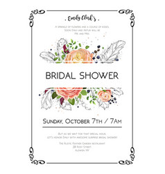 Bridal shower boho art wedding watercolor vector