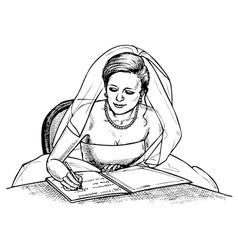 bride signs vector image vector image