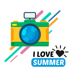 Camera and text vector