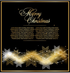 Christmas gold beautiful background vector image