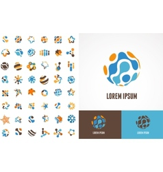 Collection of abstract icons and symbols vector
