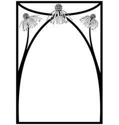 daisy frame vector image vector image