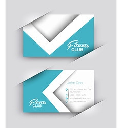 Fitness center business card set vector