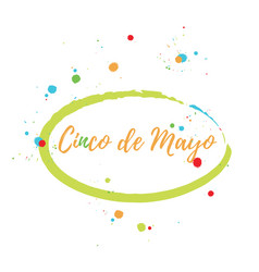 greeting card of the cinco de mayo day vector image vector image