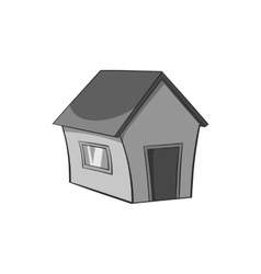 House with one window icon black monochrome style vector image vector image