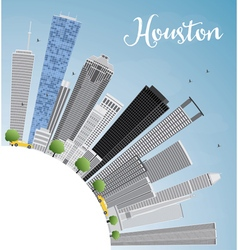 Houston Skyline with Gray Buildings vector image vector image