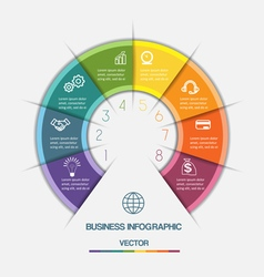 Infographic on eight positions vector