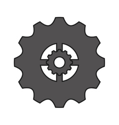 Isolated gear object design vector image
