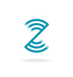 Letter z technical logo template mounting round vector