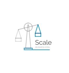 Line minimal design logo scale vector image